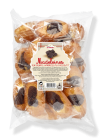Bag of shell shape madeleines with chocolate individually wrapped