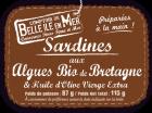Sardines  aux algues bio de Bretagne