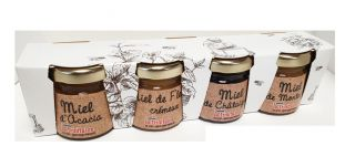 Miel assortiment de 4 verrines