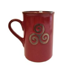 "Mug collection ""Triskell"" rouge et or"