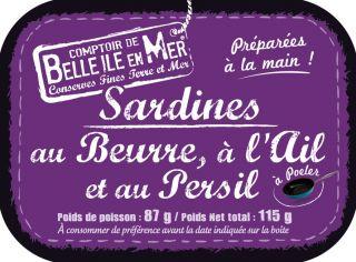 Sardines prêtes à poêler, au beurre, à l'ail et au persil
