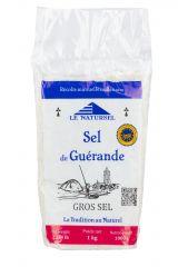 Gros sel de Guérande en sachet 1 kg