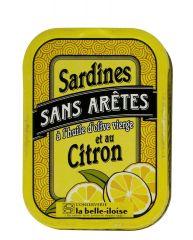 """Sardines Sans Arêtes à l'Huile d'Olive & Citron """"Belle Iloise"""""""