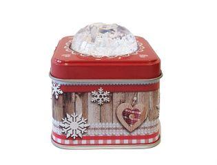 """Boîte bonbons framboise et myrtille """" boule à neige """""""