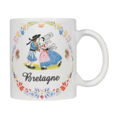 "Mug droit blanc collection ""Bisou breton"""