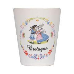 "Tasse expresso sans anse collection ""Bisou breton"""