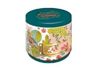 Boîte ronde Rose - Galettes Bretonnes aux Éclats de Caramel