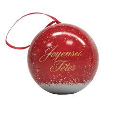 """Boule de Noël """"joyeuses fêtes"""" chocolat 45g"""