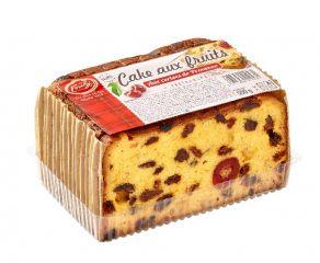 Cake aux fruits pré-tranché