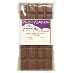Tablette de chocolat au lait caramel au beurre salé La Cabosse