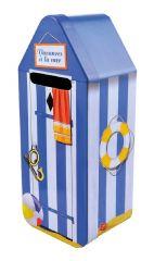 Cabine de plage bleue