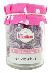 Bonbons à la violette en petit pot