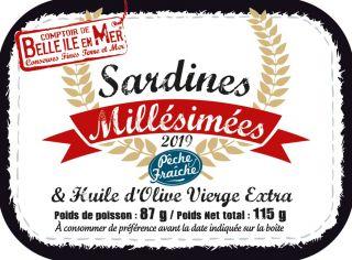 Sardines millésimées à l'huile d'olive vierge extra