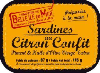 Sardines au citron confit, piment et huile d'olive vierge extra