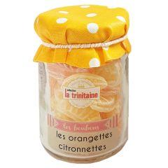 Bonbons à l'orange et au citron en petit pot