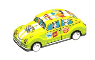 Coccinelle VW verte et jaune garni de galettes 110g