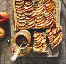 [Fraise & Basilic] Tarte aux fruits, thym et caramel beurre salé